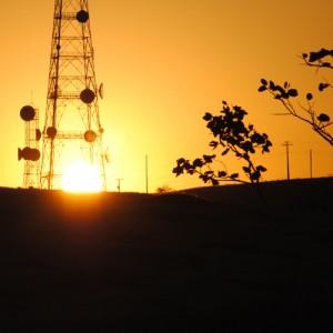 Por do Sol na fotgrafia